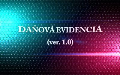 Formulár – Daňová evidencia 2018, 2019 a 2020