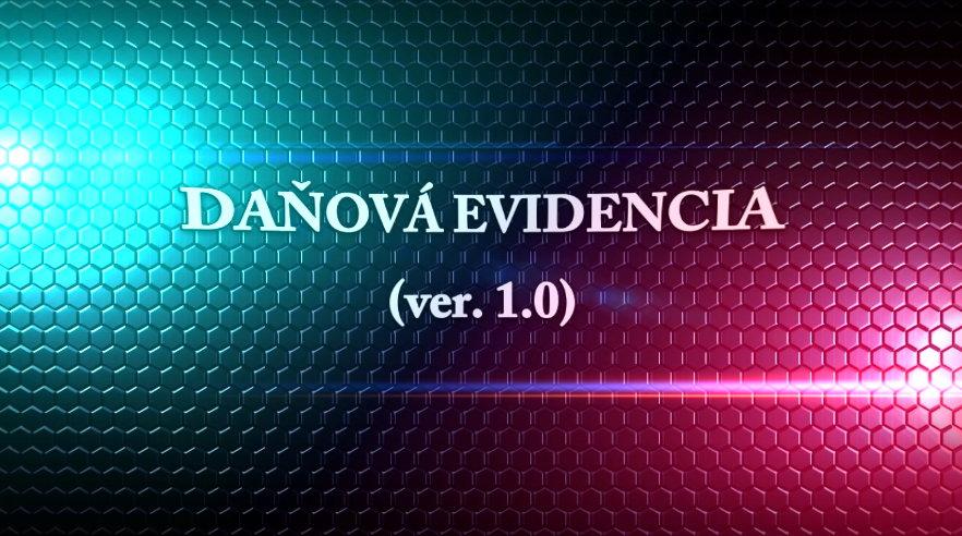 Formulár – Daňová evidencia 2018 a 2019