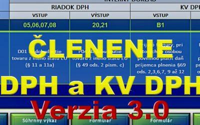 Členenie DPH a KV DPH – pomôcka pre všetkých účtovníkov – verzia 3.0.2